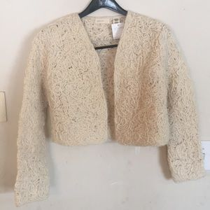 Anthro sleeping on snow wool sweater cardigan L